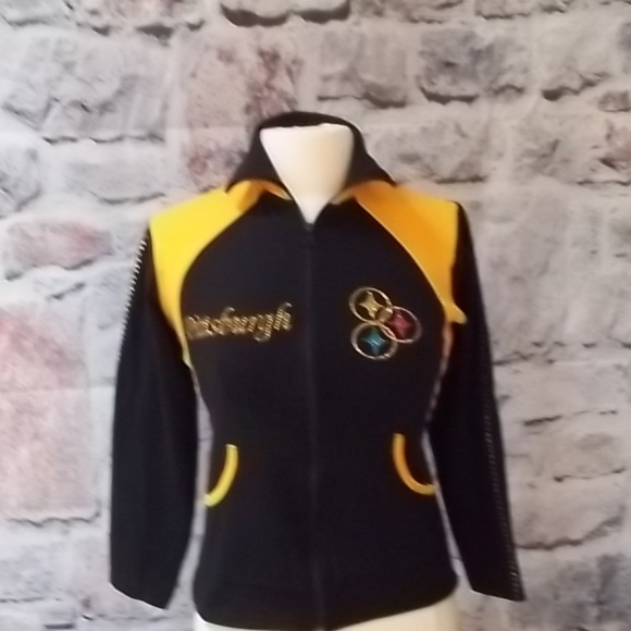 new concept f0eec f17af Pittsburgh Steelers Womens' Embellished Jacket-M